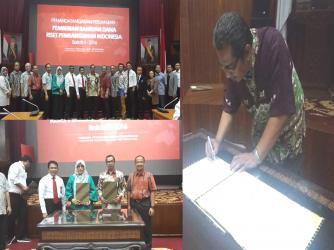 Penandatanganan SPK Antara Lembaga Pengelola Dana Pendidikan (LPDP) dengan LPPM Universitas Jambi dalam Program RISPRO